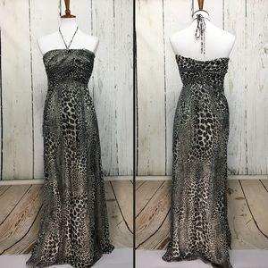 Laundry by Shelli Segal Silk Animal Print Dress